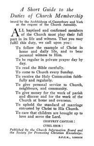 A Short Guide to the Duties of Church Membership