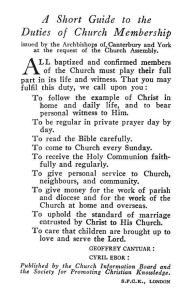 A Short Guide to the Duties of Church Membership